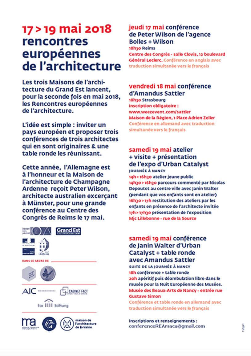 Programme REA 2018